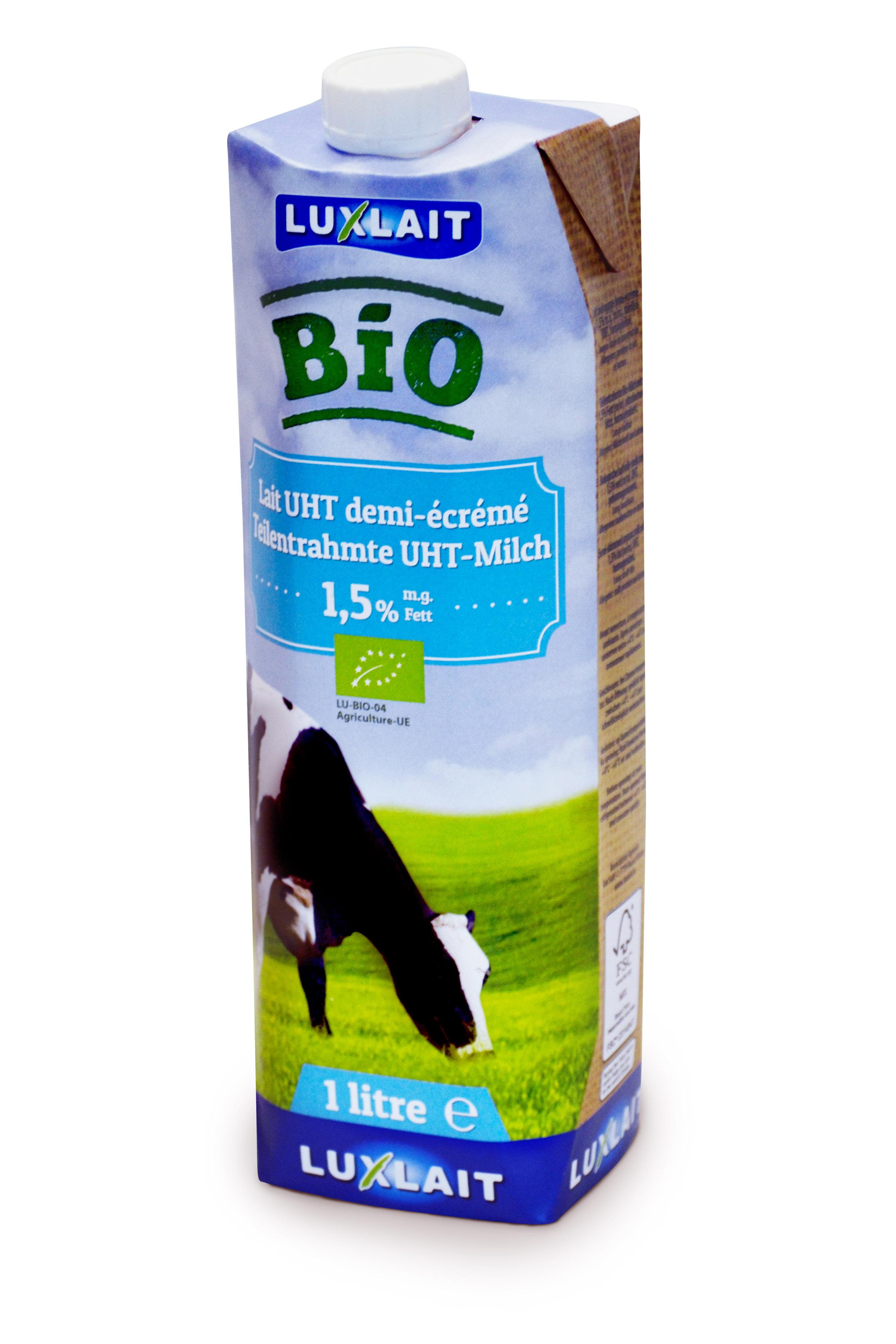Organic uht milk 1l 1.5% fat