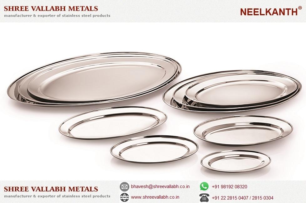 Steel oval platter