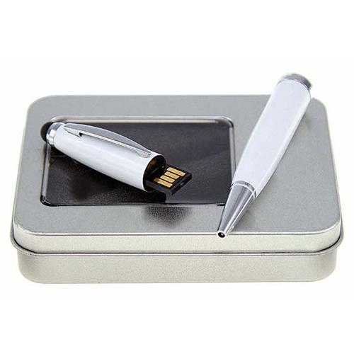 Usb pen with stylus cao-h042w -white