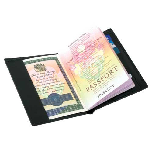 Leather travel passport holder s3502a