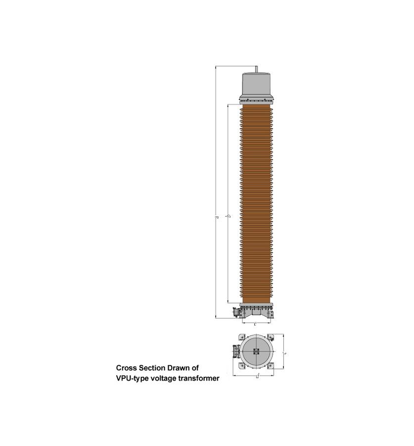 Vpu-type inductive voltage transformer
