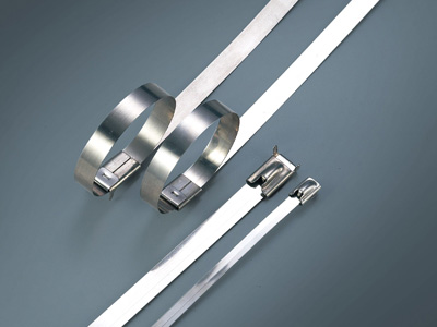Stainless steel cable tie-ball lock