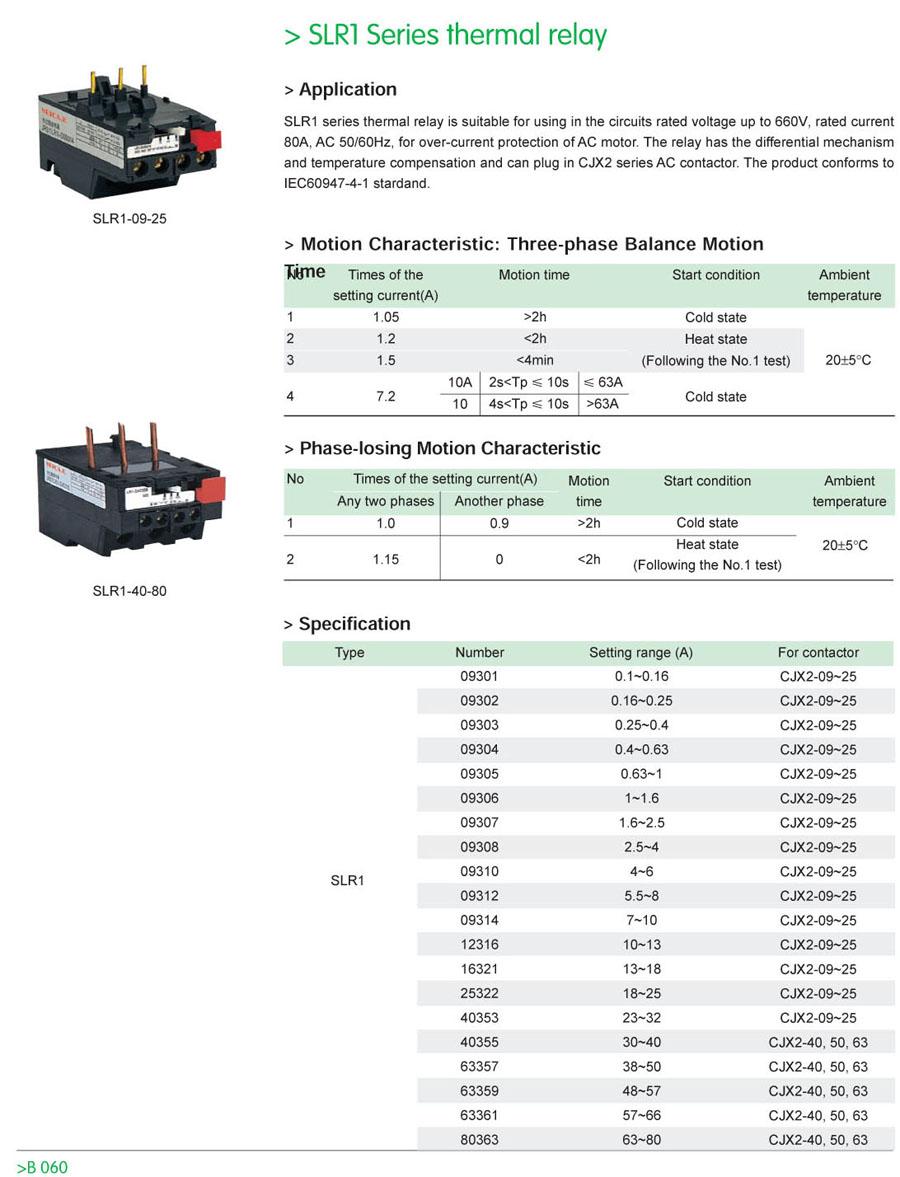 Slr1 series thermal relay
