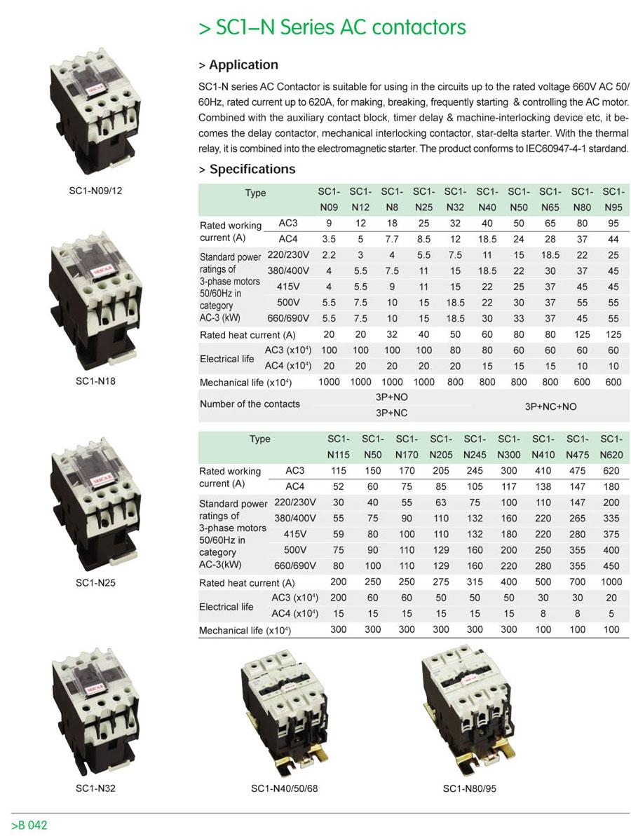 Sc1-n series ac contactor