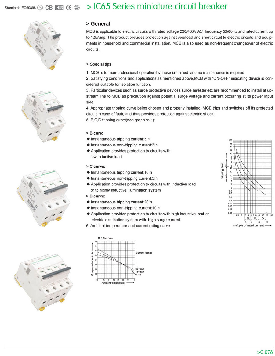 Ic65 series miniature circuit breaker