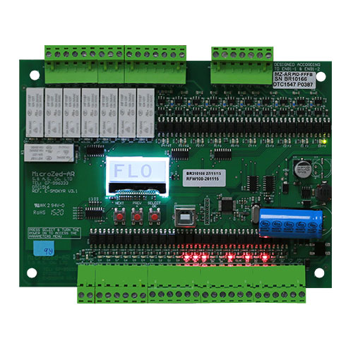 ELEVATOR  CONTROL  MODULE  10  STOPS  AUTOMATIC  PUSH  BUTTON  WITH  RELAYS  −  MICROZED−AR  V3.1_2