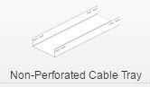 Non-perforated cable tray