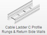 Cable ladder c profile rungs & return side walls