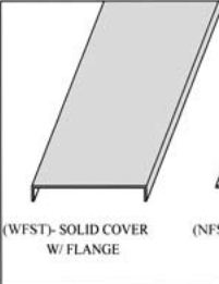 Cable tray covers (wfst)- solid cover w/ flange