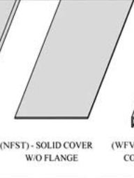 Cable tray covers (nfst)- solid cover w/o flange