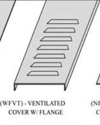Cable tray cover (wfvt)- ventilated cover w/ flange