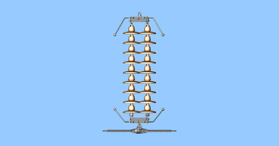 132 kv double suspension