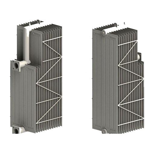 Swan neck radiator