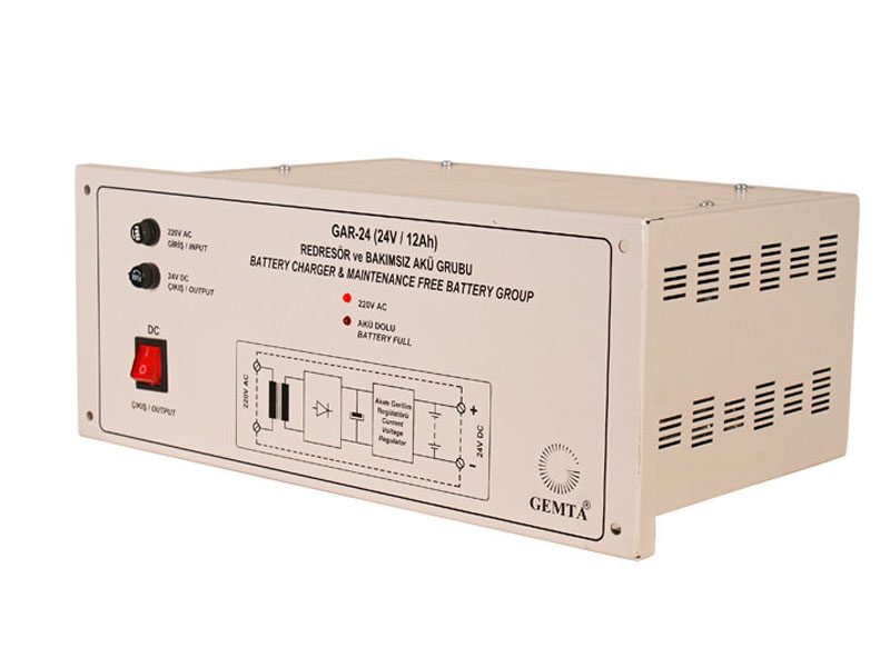 Gar-24 dc 24v  12ah panel type- wall charger and battery