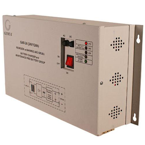 Gar-24 (dc 24v  12ah) wall mounted wall charger and battery group