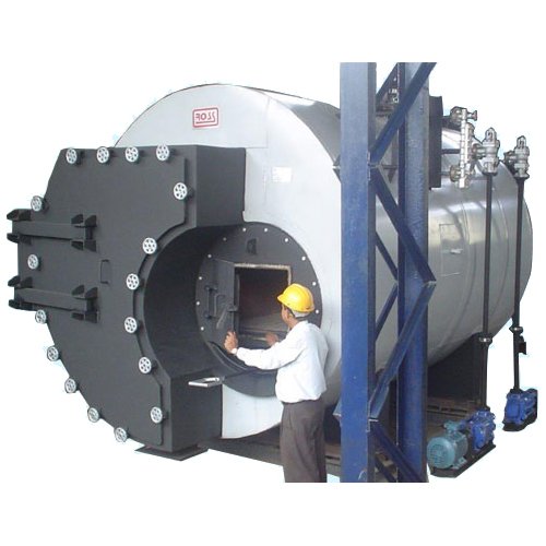 Rsw - solid fuel fired, 3 pass, shell type, flue tube steam boilers