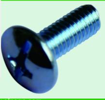 Large flat head bolt