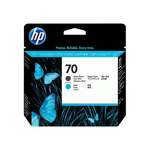 HP C9404A MBK & CY PRINTHEAD #70_2