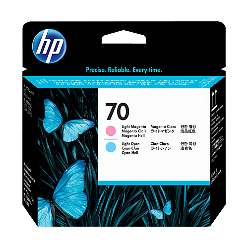 HP C9405A LT CY & LT MAG PRINTHEAD #70_2