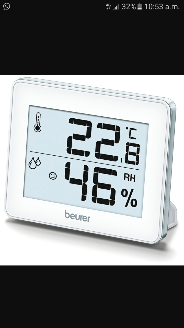 Beurer hygrometer for humidity & room temperature