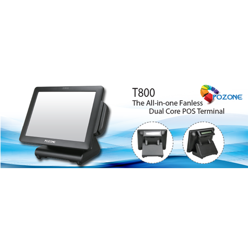 Pozone t800 n2930 320gb hdd 2gb ram intel bay trail celeron high performance & power saving touch pos terminal with small footprint empower high technique operation application, intel bay trail-mobile/desktop soc processor: celeron n2930