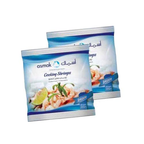 Cooking shrimps