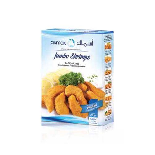 Breaded jumbo shrimps