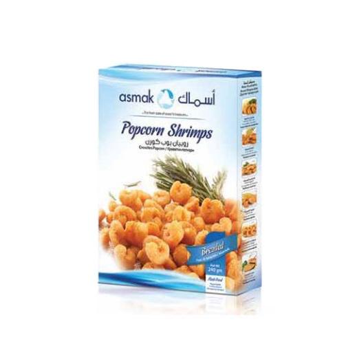 Breaded popcorn shrimps