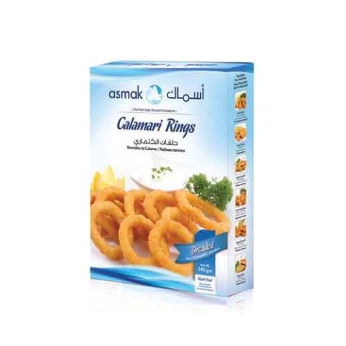 Breaded calamari rings