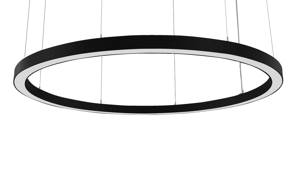 Galaksi o - led suspended lighting fixtures with frosted acrylic diffuser