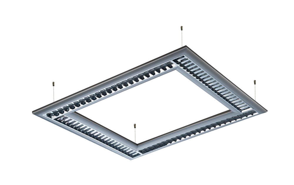 T16 (t5) suspended square lighting fixtures with aluminum reflector