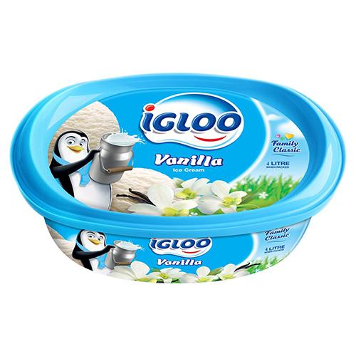 Igloo ice cream (vanilla flavored)
