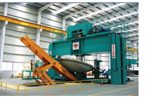 Dishing and flanging machines