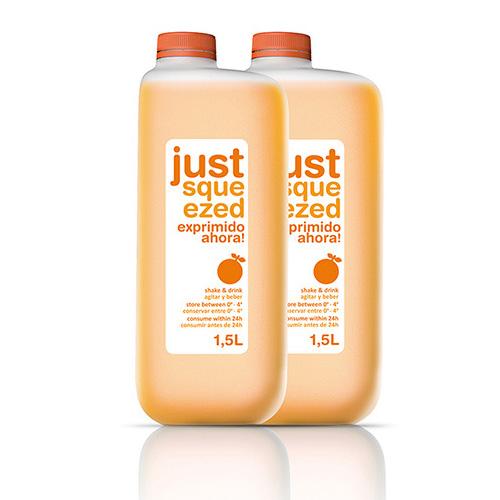 Ergonomic juice pack