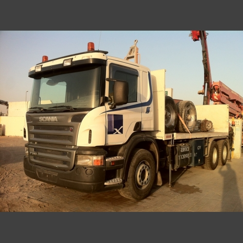 Scania Chassis Track / 6X2 / manuel / with 21 Meter Faasi Crane_2