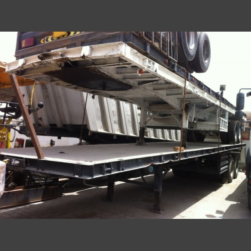 Trailer flat bed + half box / leav springs_2