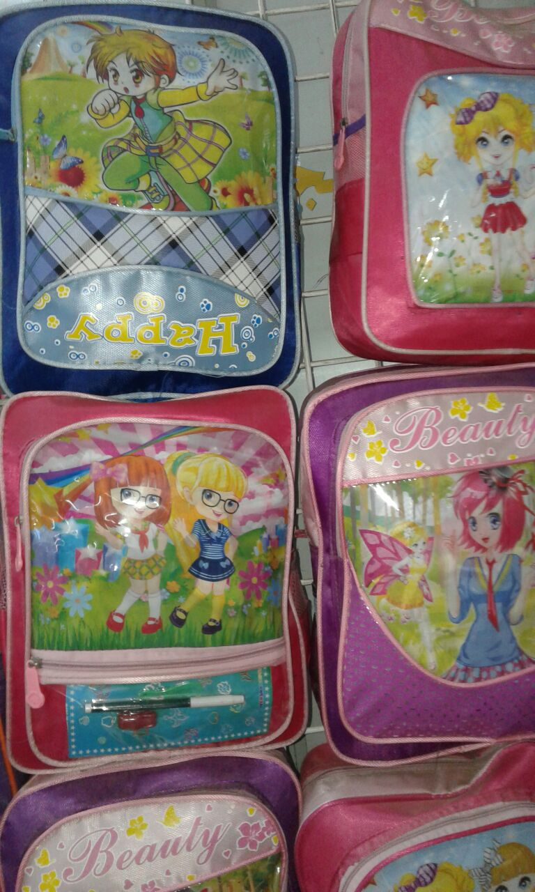 School bag with attractive color & in  different sizes