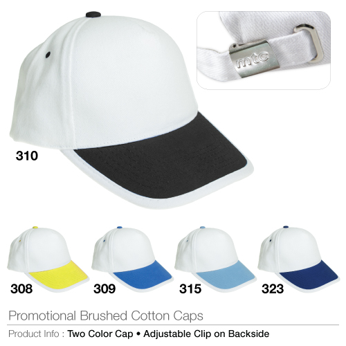 Promotional brushed cotton cap