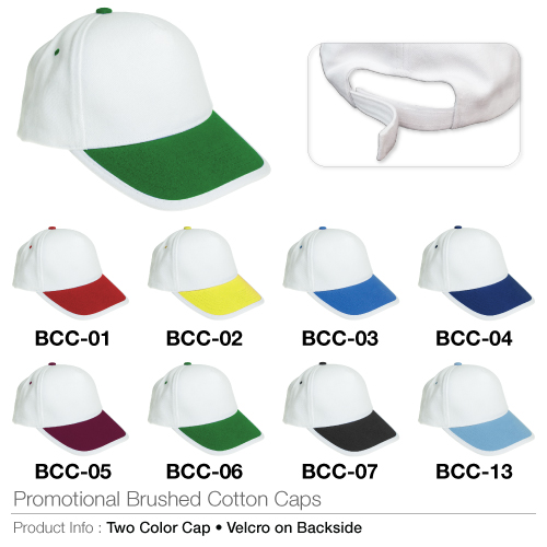 Promotional brushed cotton cap  (bcc series)