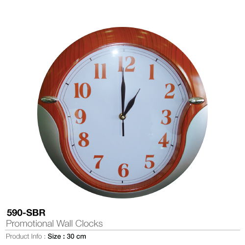 Promotional wall clocks  (590-sbr)