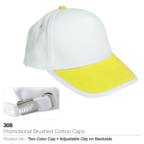 Promotional brushed cotton caps (308)