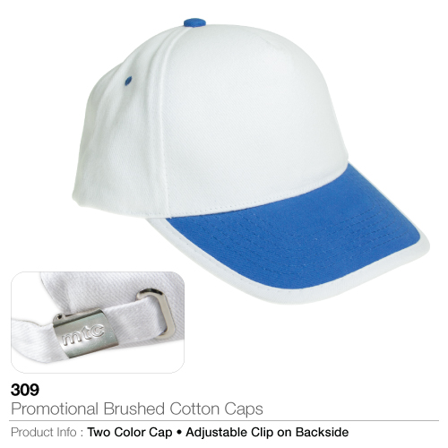 Promotional brushed cotton caps (309)