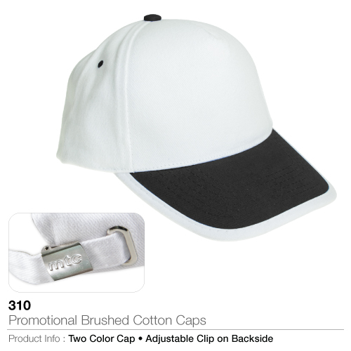 Promotional brushed cotton caps (310)