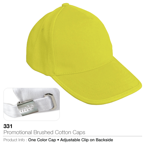 Promotional brushed cotton caps (331)