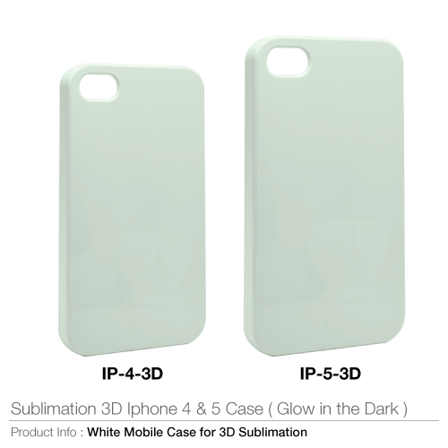 Sublimation 3d for iphone 4 & 5 case (glow in the dark)