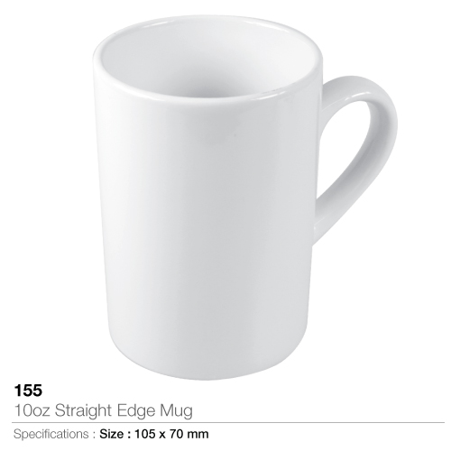 10oz straight edge mug