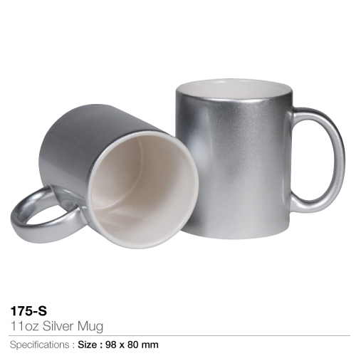 11oz silver mug (175-s)