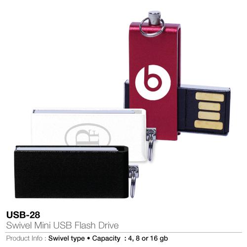 Swivel Mini USB Flash Drive (USB-28)