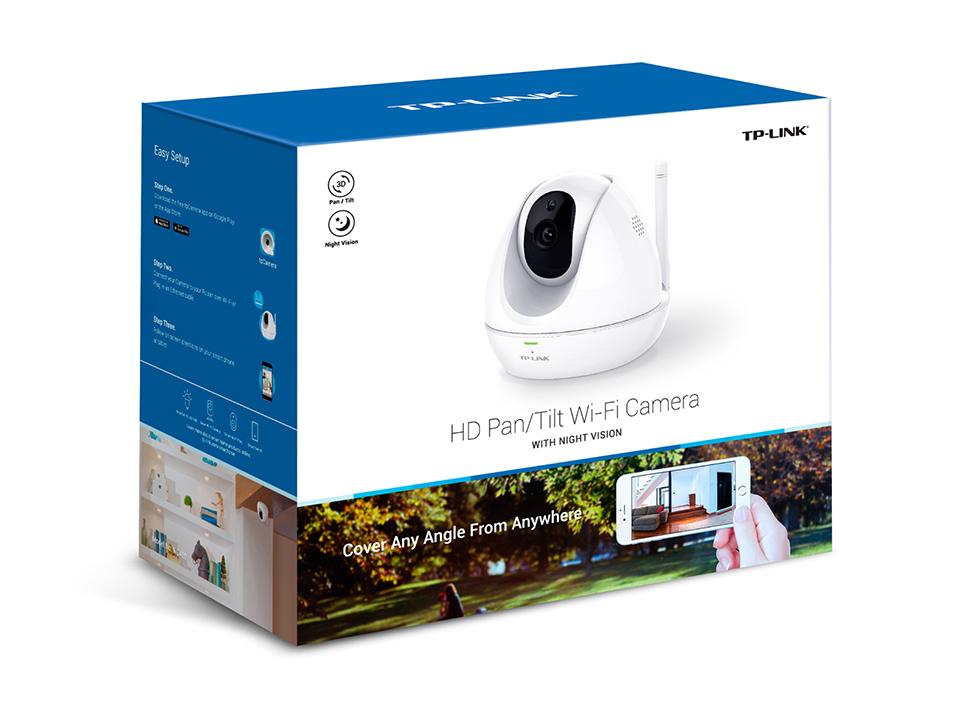Hd pan tilt wifi camera with night vision nc