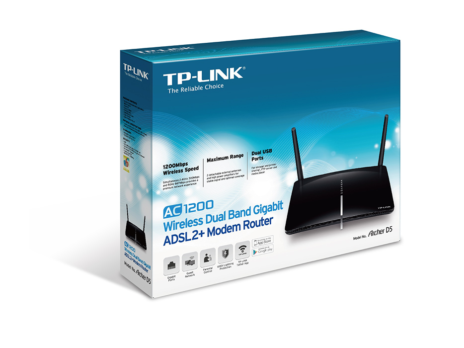 TP-Link  Wireless Dual Band Gigabit ADSL2 Modem Rout_2